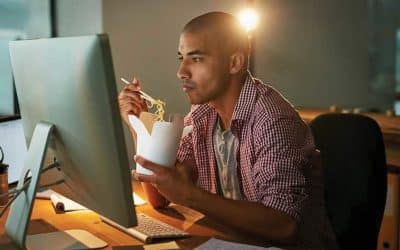 Eating well while working at home: Step away from the biscuits and never dine at your desk