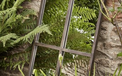 Mirror mirror in the garden…Flood gardens with light to create an illusion of space
